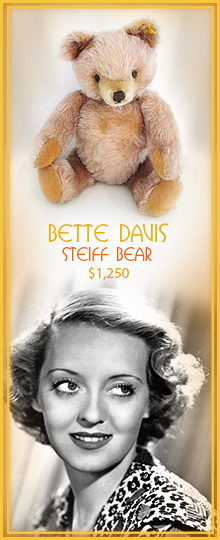 Side Ad Betty Davis Steiff Bear Ad